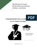 Material Compilado Para La Elaboración de Un Trabajo de Grado