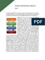 Sistemas Operativos, Caracteristicas y Familias