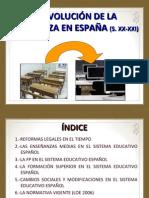 Evolucion Ensenanza Espana