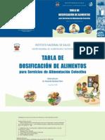 Tabla de Dosificacion de Alimentos Cenan[1]