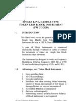 Notes on Diado block instrument