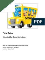 EDEL453 Spring2014 Daniel-marieLEBEL FieldTrips