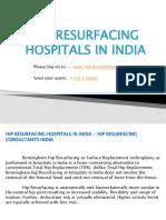Hip Resurfacing Hospitals In India - Hip Resurfacing Consultants India