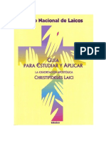 Guía Para Estudiar La Christifideles Laici