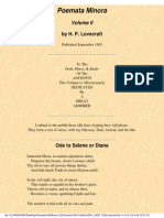 H. P. Lovecraft - Poemata Minora Vol II