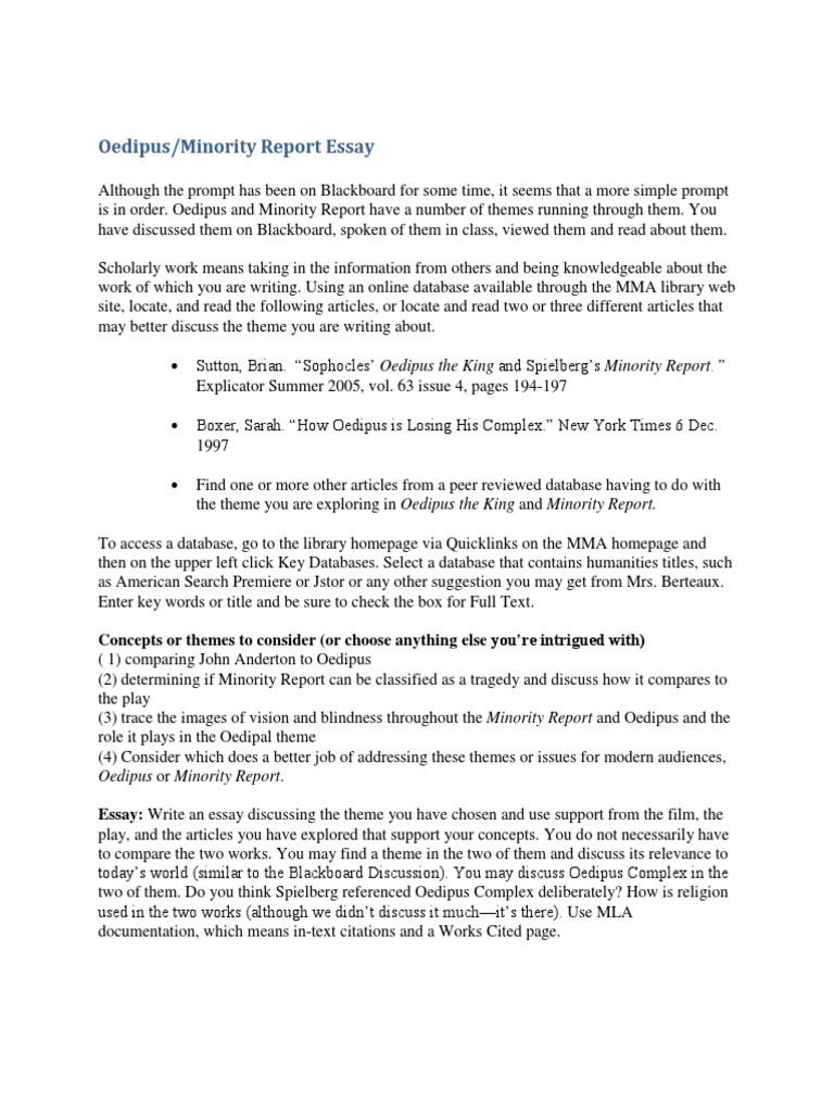 minority report short story