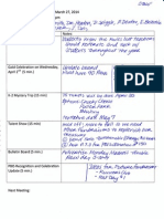 PBIS Meeting Agenda and Notes