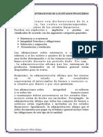 Aserciones o Aseveraciones de Los Estados Financieros