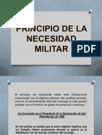 DIH Principio Nesecidad Militar