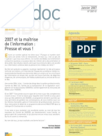 Bibdoc 2007-1 | Hiver 2007 (Documentation, Presse & Medias)