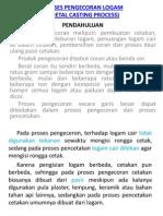 Pengecoran Dan Pencetakan )Logam(