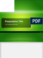 Green Powerpoint Presentation Template