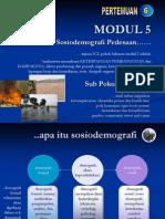 MODUL 5 SOSIODEMOGRAFI PEDESAAN