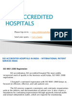 Iso Accredited Hospitals In India - International Patient Services India