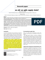 Humanitarian Aid - An Agile Supply Chain