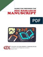 Guidelines for Preparing BSDC Research Manuscript