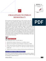 Challenges to Indian Democracy