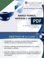 Clase 4 Marco Teórico, Hipótesis y Variables