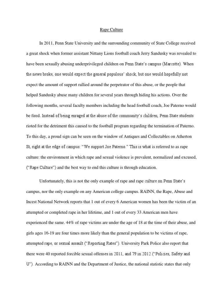 rape culture policy proposal essay rape sexual assault