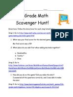 scavenger hunt 2 answers