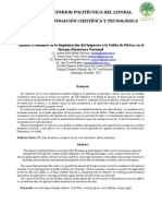 Análisis Económico de La Implantación Del Impuesto a La Salida de Divisas en El Sistema Financiero Nacional