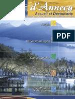 lac Annecy Accueil et découverte brochure de