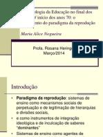 Fundamentos Sociológicos Da Educação (EDF 240) - PPT 5 - M a Nogueira