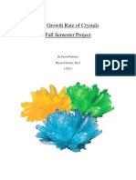 the growth rate of crystals