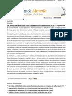 Un trabajo de MediCall® única representación almeriense en el I Congreso de Politica Social