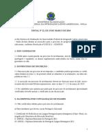Edital 22_2014 de Nivelamento Línguas