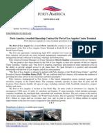 63-Ports America Awarded POLA Cruise Terminal Contrac