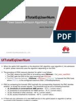 UlTotalEqUserNum Power Admission
