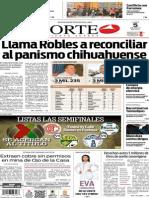 Periódico Norte de Ciudad Juárez edición impresa del 5 mayo del 2014