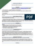lesson plan template scn bats