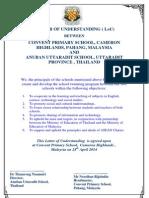 Letter of Understanding INTERNATIONAL 2014