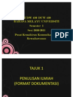 TAJUK 2 Format Dokumentasi APA