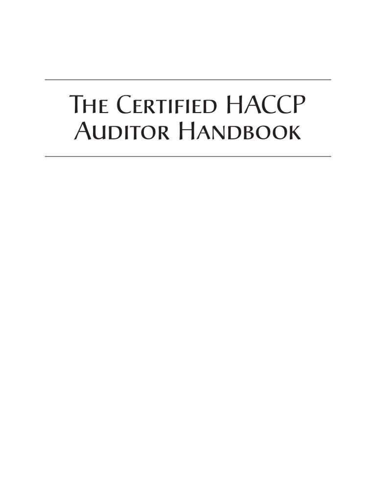 The Certified Haccp Auditor Handbook Hazard Analysis And Critical