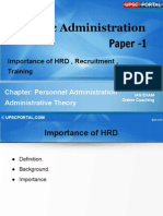 PUB AD (9 a) - Chapter- 9- Importance of HRD, Recruitment,Training