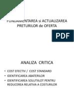 Fundamentarea Si Actualizarea Preturilor de Oferta
