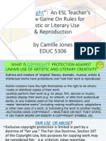 copy right - rules for literary  artistic reproduction  photocopy-educ5306jonesc1b