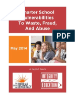 Charter School Vulnerabilities to Waste, Fraud, & Abuse