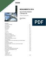 Monumenta 2014 - dossier de presse