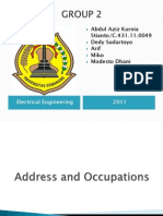 Address and Occupations