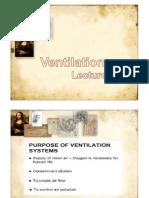 Lecture 10 - Ventilation