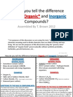 BIO- How Do You Tell the Difference Between Organic and Inorganic Compounds