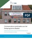 Communicatie en Participatie Voor Het Deltaprogramma Waddengebied