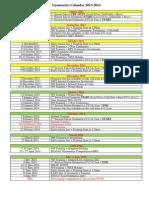 Gymnastics Calendar 2013-2014