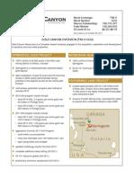 Gold Canyon Resources-factsheet