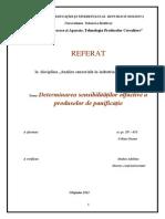 Referat- Determinarea Sensibilităților Olfactive a Produselor de Panificație