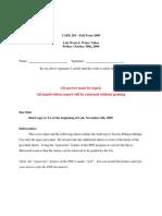 CAEE 201 – Fall Term 2009 Lab Week 6